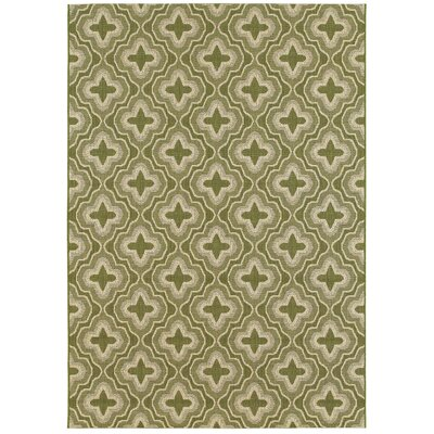 Averill Golden Wheat Indoor/Outdoor Area Rug Rug Size: 53 x 74