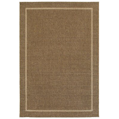 Hartford Golden Wheat Indoor/Outdoor Area Rug Rug Size: 53 x 74