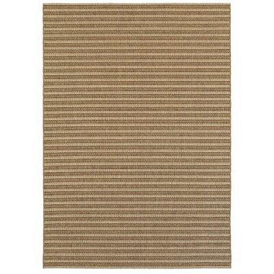 Lyndon Golden Wheat Indoor/Outdoor Area Rug Rug Size: 53 x 74