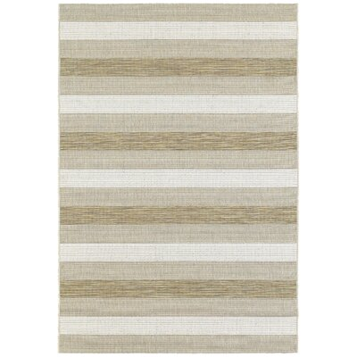Galleria Beige/Gray Indoor/Outdoor Area Rug Rug Size: 53 x 74