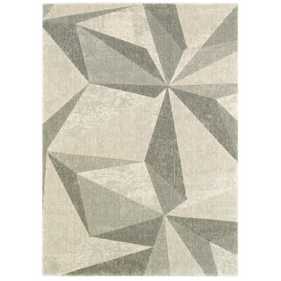 Halford Gray Area Rug Rug Size: 53 x 74