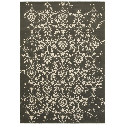 Ayer Gray Area Rug Rug Size: 53 x 74