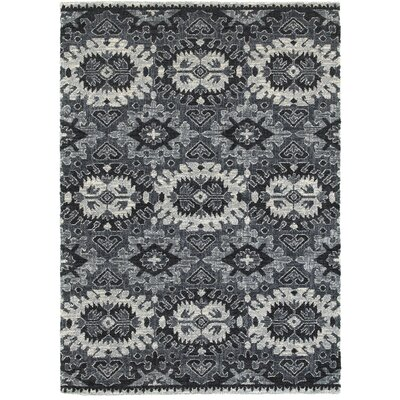 Eastham Black/White Area Rug Rug Size: 53 x 74