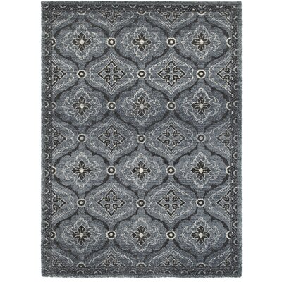 Hotwells Carbon Area Rug Rug Size: 53 x 74