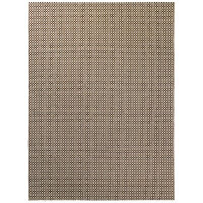 Beige/Brown Indoor/Outdoor Area Rug Rug Size: 5'3