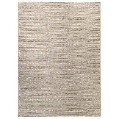 Gray/Beige Indoor/Outdoor Area Rug Rug Size: 53 x 75