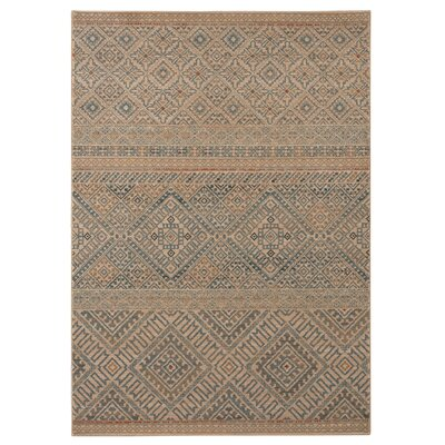 Fellows Beige/Gray Area Rug Rug Size: 53 x 74