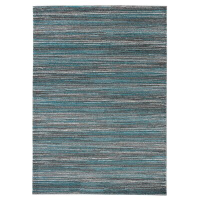 Eaglin Gray/Blue Area Rug Rug Size: 53 x 74