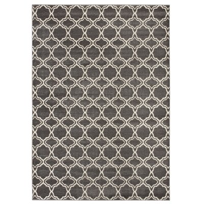 Fritts Gray/Beige Area Rug Rug Size: 53 x 74