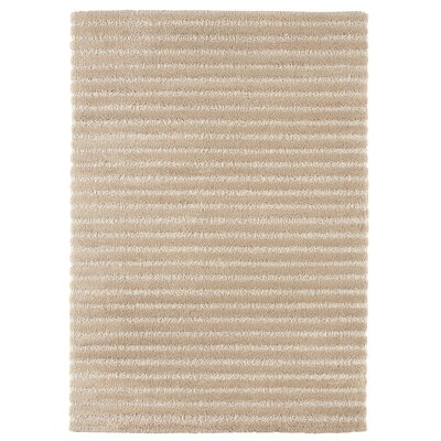 Logan Square Beige Area Rug Rug Size: 53 x 74