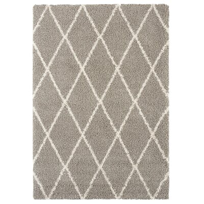 Danvers Beige/White Area Rug Rug Size: 5'3