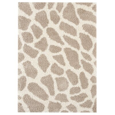 Conway Beige/White Area Rug Rug Size: 53 x 74