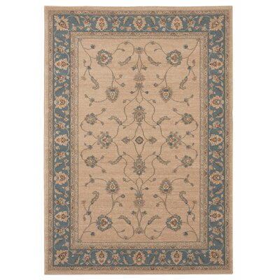 Marian Beige/Blue Area Rug Rug Size: 710 x 10