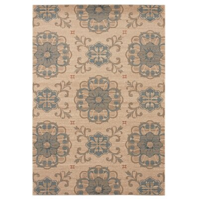 Madison Beige/Gray Area Rug Rug Size: 7'10