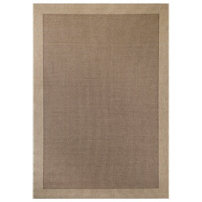 Brown Area Rug Rug Size: 53 x 75