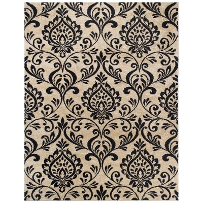 Brooklyn Black/Beige Area Rug Rug Size: Rectangle 53 x 7