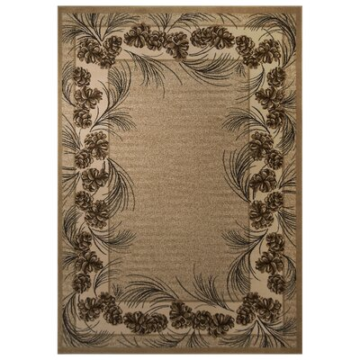 Spero Brown Area Rug Rug Size: 53 x 75