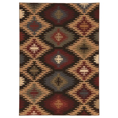 Red/Beige Area Rug Rug Size: 7 x 101