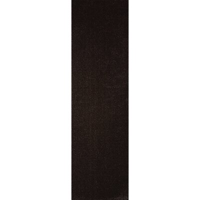 Northolt Black Area Rug Rug Size: Runner 28 x 75