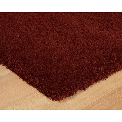 Pelton Red Area Rug Rug Size: 53 x 75