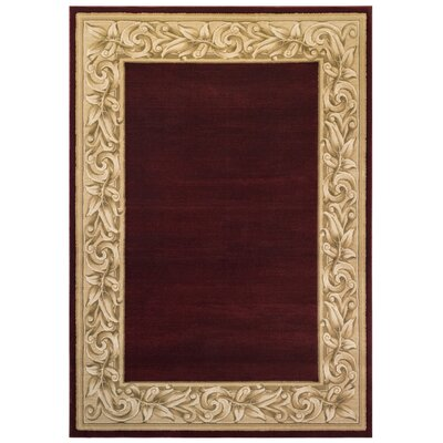 Brooklyn Red Area Rug Rug Size: 53 x 75
