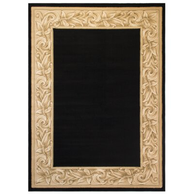 Calista Black Area Rug Rug Size: 67 x 97