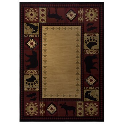 Red Area Rug Rug Size: 67 x 97