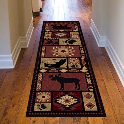 Spicewood Red Area Rug Rug Size: Runner 28 x 711