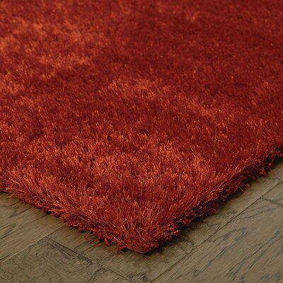 Red Area Rug Rug Size: 53 x 75