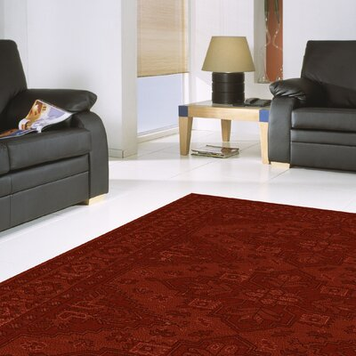 Red Area Rug Rug Size: 53 x 74