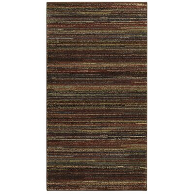 Spigner Brown Area Rug Rug Size: 53 x 73