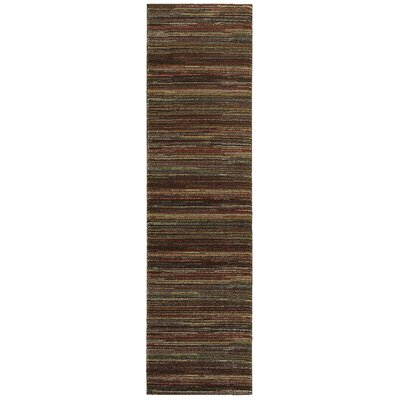 Spigner Brown Area Rug Rug Size: Runner 2 x 73
