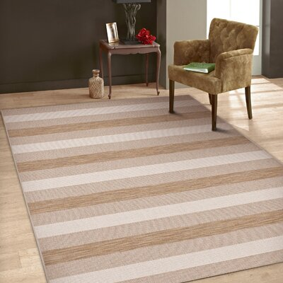 Woodford Beige/Gray Indoor/Outdoor Area Rug Rug Size: 53 x 74