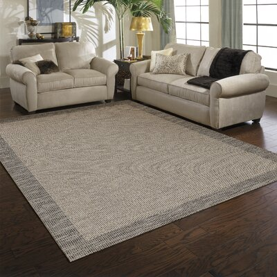 Weston Gray Indoor/Outdoor Area Rug Rug Size: 53 x 74