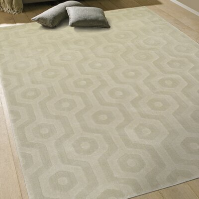 Brookview Beige Area Rug Rug Size: 53 x 74