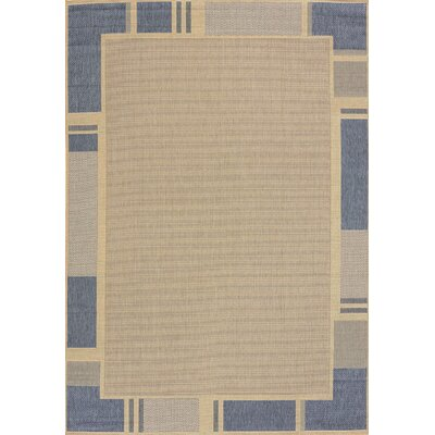 Solarium Blue Terrace Indoor/Outdoor Area Rug Rug Size: 53 x 76