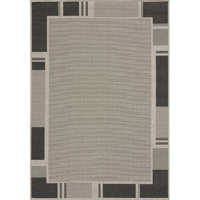 Solarium Grey Terrace Indoor/Outdoor Rug Rug Size: 7'10