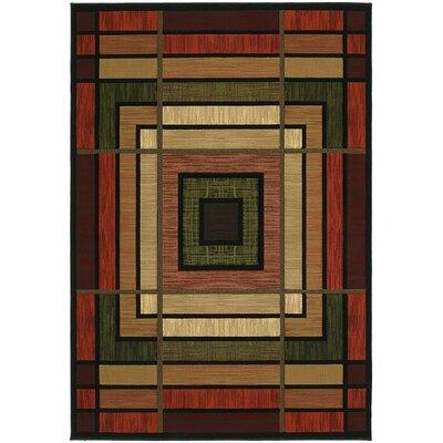 Ganley Terracotta Ambience Rug Rug Size: 53 x 76