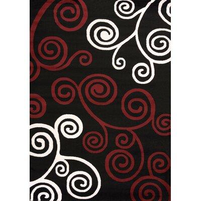 Cristall Black Ambrosia Rug Rug Size: 710 x 112