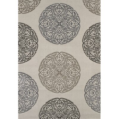 Townshend Cream Gaze Rug Rug Size: 53 x 76