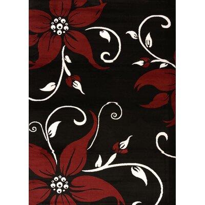 Cristall Black Daiquiri Rug Rug Size: 710 x 112