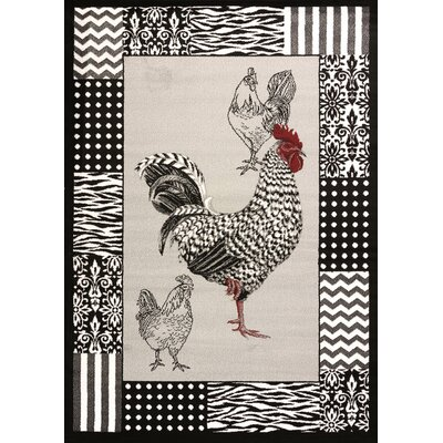 Cristall Grey Rooster Rug Rug Size: 710 x 112
