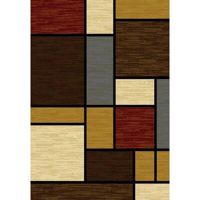 Affinity Rhombus Brown/Beige Area Rug Rug Size: 53 x 72