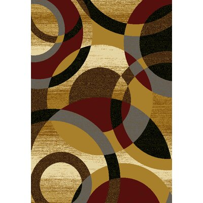 Affinity Ricochet Gold Area Rug Rug Size: 710 x 106