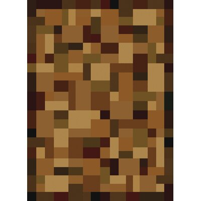Contours Fordham Brown/Beige Area Rug Rug Size: Rectangle 53 x 76