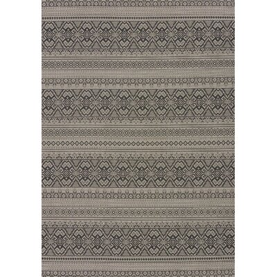 Solarium Silver Alfresco Indoor/Outdoor Area Rug Rug Size: 53 x 76