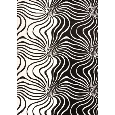 Cristall Black Kamakazie Rug Rug Size: 710 x 112
