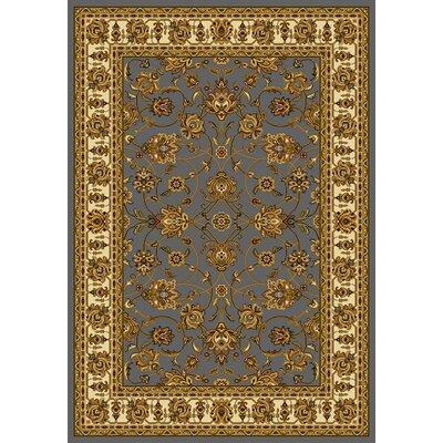 Affinity Reza Blue/Grey Area Rug Rug Size: 53 x 72