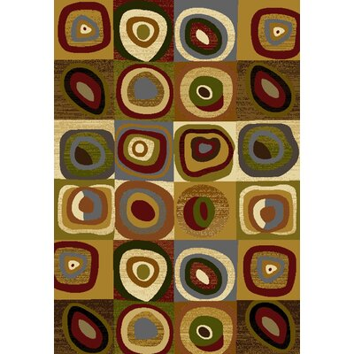 Affinity Seismic Brown Area Rug Rug Size: 53 x 72