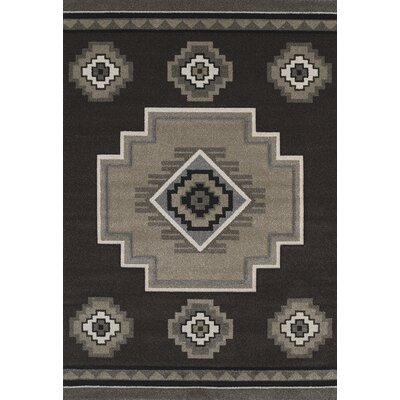Townshend Brown Mountain Area  Rug Rug Size: 53 x 76